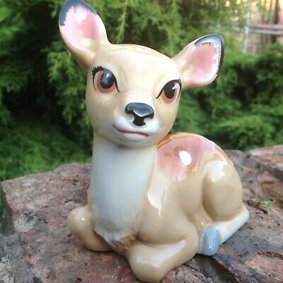 WADE Disney DEER FAWN Bambi Money Box Figure...COLLECTABLE  • 8.50£