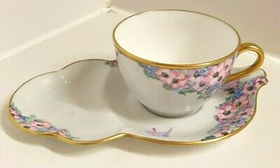 Aynsley Glasgow Girl Design Cup And Plate Hand Painted Signed May Wilson • 27.99£