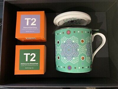 T2 Morrocan Classics Mug With Infuser And Tea Boxed Gift Set • 5£