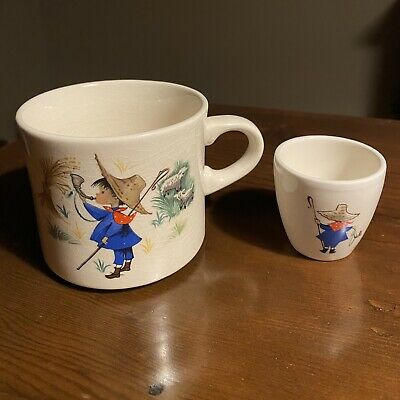 Vintage Arklow Little Boy Blue Mug And Creamer Ceramic Mug Ireland 1960s • 12.17£