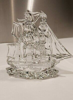 Waterford Crystal Tall Ship, Wonderful Crystal Ship Riding The Waves. • 40£