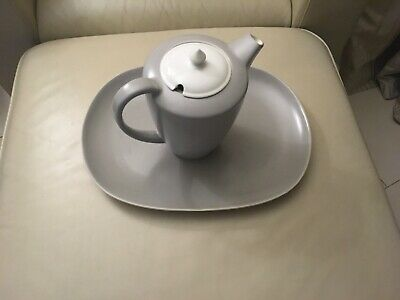 Poole Pottery Twintone Serving Platter And Coffee Pot • 20£
