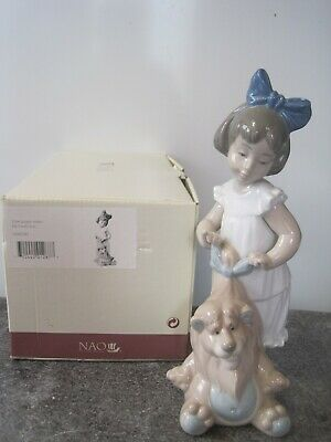 Nao By Lladro Porcelain Figure 'My Lovely Lion' Number 1287 With Original Box • 24.95£