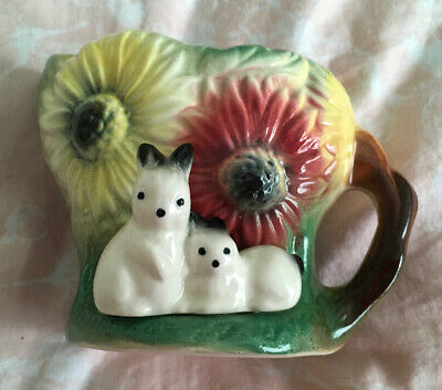 Withernsea Eastgate Fauna Pottery, Small Jug, Rabbits With Daisies, Rare, VGC. • 15£
