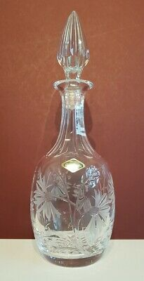 Vintage Royal Brierley Crystal 'CORNFLOWER' Round Decanter – 33 Cms (13″) Tall • 45.75£