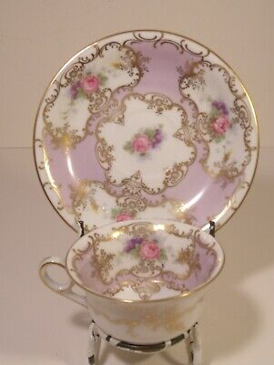 Superb Continental Hand Painted Cup And Saucer • 19.99£