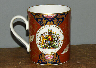 Royal Doulton Queen Elizabeth Golden Jubilee Mug 1952-2002 • 5£