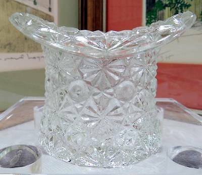 Vintage Fenton Clear Daisy And Button 2 5/8  Top Hat Toothpick Holder • 17.71£