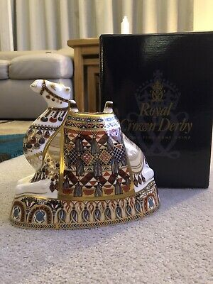 Royal Crown Derby Paperweight  CAMEL  1st Quality With Gold Stopper And Box • 190£