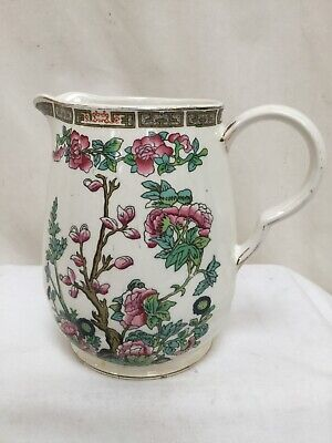 Vintage Maddock Vitreous Ceramic Jug With Oriental Floral Pattern Good Con • 5.95£