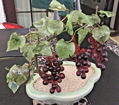 Vintage Glass Grape Vine Ornament • 9.95£