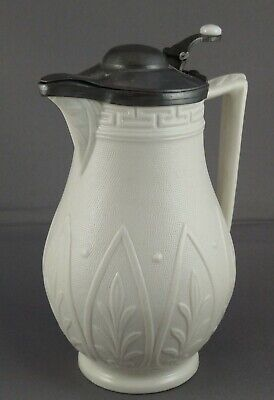 William Brownfield Cobridge Argos Stoneware Pewter Lidded Jug/Flask Victorian  • 49£