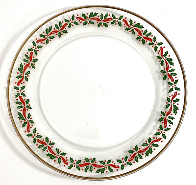 8 - Arcoroc Christmas Holly Luncheon Plates 8  Vintage France Holly Salad Plate  • 29.89£