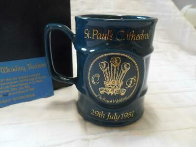 Sandygate Pottery Devon 1981 Royal Wedding Charles & Diana Collectors Mug • 9.99£