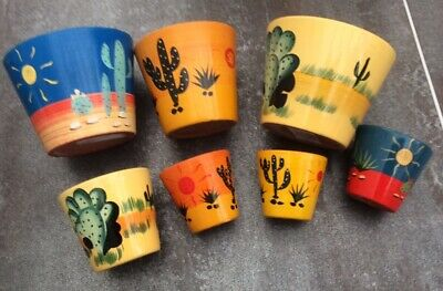 Cactus Pottery - Selection Of 7 - Nice Items • 2.50£