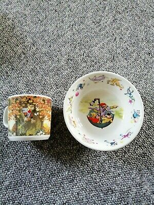 Wedgwood Rupert Bear Vintage Bowl And Cup • 7.80£