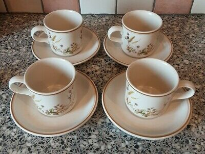 M&S Marks And Spencer - Harvest - Set Of 4 Cups & Saucers  • 5.99£