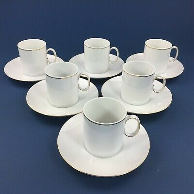 6 Thomas Germany White Coffee Cups And Saucers • 16.90£