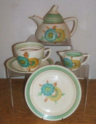 Clarice Cliff Honeydew Part Teaset For One • 95£
