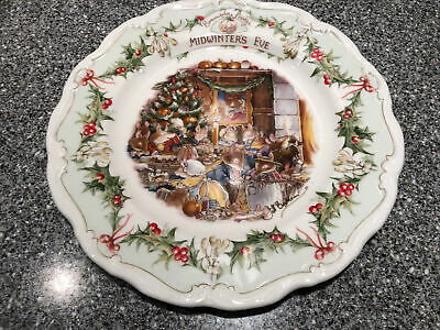 BRAMBLY HEDGE ROYAL DOULTON MIDWINTER'S EVE 8  PLATE, Lovely Condition • 59.99£