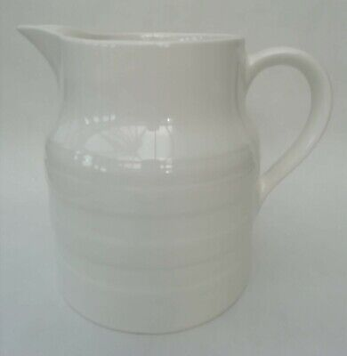 Lord Nelson Pottery Vintage Traditional White Stoneware Ceramic Jug 1.25pt • 14.99£