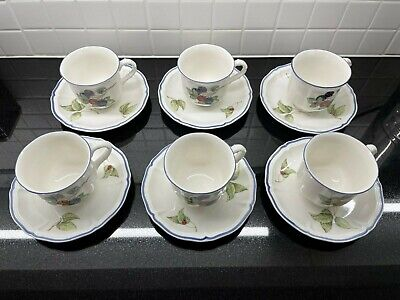 Villeroy & Boch Cottage Set 0f 6 Coffee Cup & Saucers • 49.99£