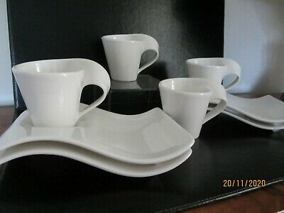 Villeroy And Boch New Wave Cups & Saucers 4 Off • 36£