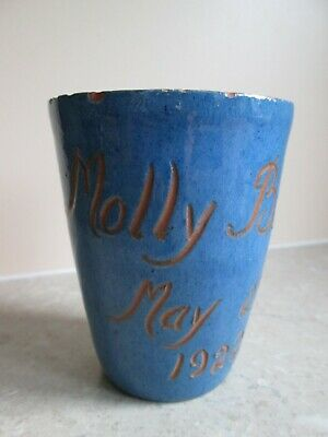 Antique Devon Pottery Beaker / Cup - Molly Braggs  1922 - Signed  A/f • 2.99£