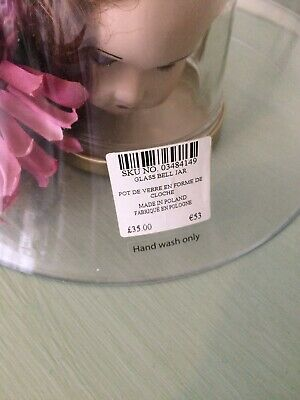 Laura Ashley Glass Dome/Cloche Display/Prop • 24.90£