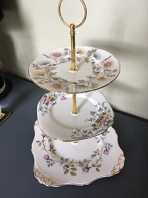 Mismatched China 3 Tier Cake Stand • 12.99£
