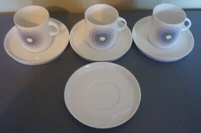 Thomas Germany Porcelain 3 Cups + 4 Saucers • 9.99£