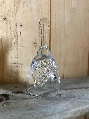 Hand Bell Crystal Glass Service Bell Etched Collectible Ringer • 4.99£