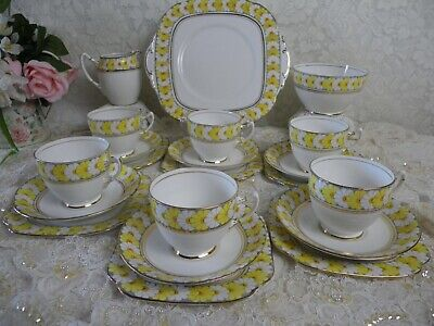 Vintage Roslyn China 21 Piece Tea Set,  Daisy Chain  Very Good Condition • 45£