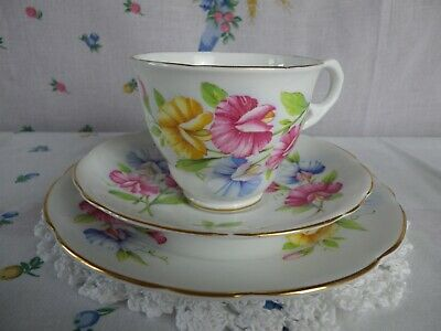 Vintage Royal Stafford  Sweetpea  Trio , Good Condition • 7.50£