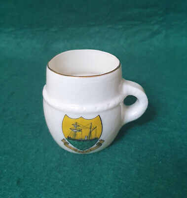 Vintage Goss China Crest Ware - Ancient Cup - Barry • 3.99£