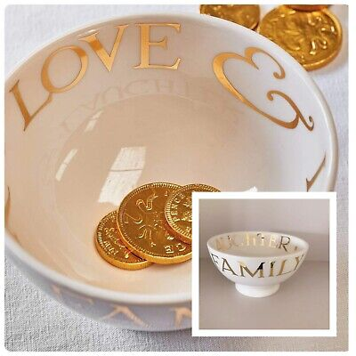 EMMA BRIDGEWATER 22ct GOLD TOAST & MARMALADE FRIENDS & FAMILY FRENCH BOWL • 39.99£