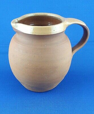 NORTH DEVON POTTERY JUG. Stamped. Slipped Rim. Free P+p • 9.99£