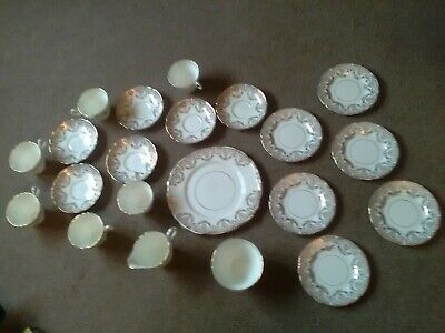 Regency Bone China , Gold Pattern .Tea Set. 21 Pcs. England. • 20£