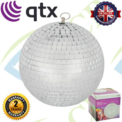 QTX 151.582 Glass 15cm Diameter Club Disco Mirror Ball Glittering Effect Display • 10.99£