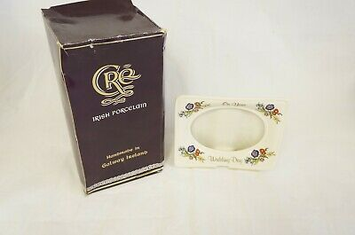Cre Irish Porcelain Vintage  On Your Wedding Day  Oval Frame  • 9.99£