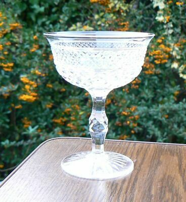 Vintage Thomas Webb Crystal Russell Champagne Glass 4 3/8inches • 24£