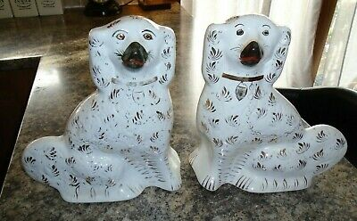 Antique Staffordshire Flatback Pair Wally Dugs  • 38£