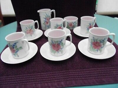 Vintage Branksome Pottery Miriam 14 Piece Coffee Set Excellent Condition • 49.99£