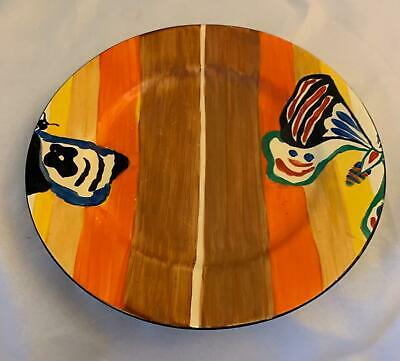 Clarice Cliff 10  Plate In The Rare Butterfly Pattern • 250£