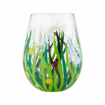 Enesco Designs By Lolita Dandelion Hand-Painted Stemless Wine Glass 20 Ounce • 9.86£
