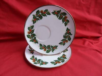 Queens YULETIDE, 2 X Snack Plates Or Tennis Plates • 9.99£