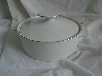 Thomas Germany White Thin Platinum Band Porcelain Tureen With Lid  • 24.99£