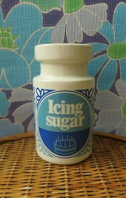 Icing Sugar Ceramic Shaker Jar Dispenser Tate & Lyle Lord Nelson Pottery Vintage • 20£