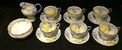Paragon 14-pce Bone China Tea Coffee Set By Apptment Queen & HM Queen Mary 1930s • 159£