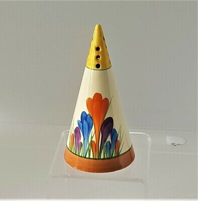 Clarice Cliff Crocus Conical Sifter • 509.52£